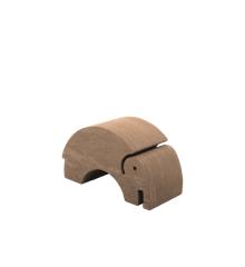 bObles - Mittlerer Elefant - Marmor Natur - Mud