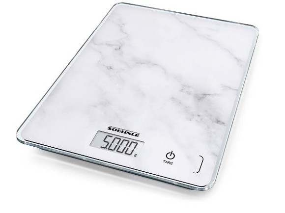 Soehnle - Page Compact Kitchen Scale - Marble/White (11398)