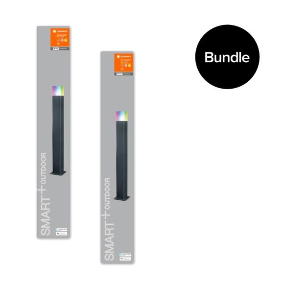 Ledvance - 2x Smart+ Outdoor Cube RGBW - Post Light 80cm - Bundle