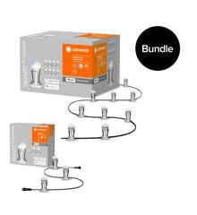 Ledvance - SMART+ Wi-Fi Garden Lightchain 9 Dots + Garden Lightchain 3 Dots - Extension - Bundle
