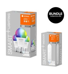 Ledvance - Smart+ RGBW frosted E27 WiFi 3 pack + Dimmer Remote - Bundle