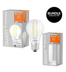 Ledvance - Smart+ Standard 827 Clear filament E27 WiFi + Dimmer Remote - Bundle