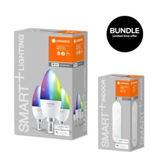 Ledvance- Smart+ Candle RGBW Frosted E14 WiFi 3 pack + Dimmer Remote - Bundle