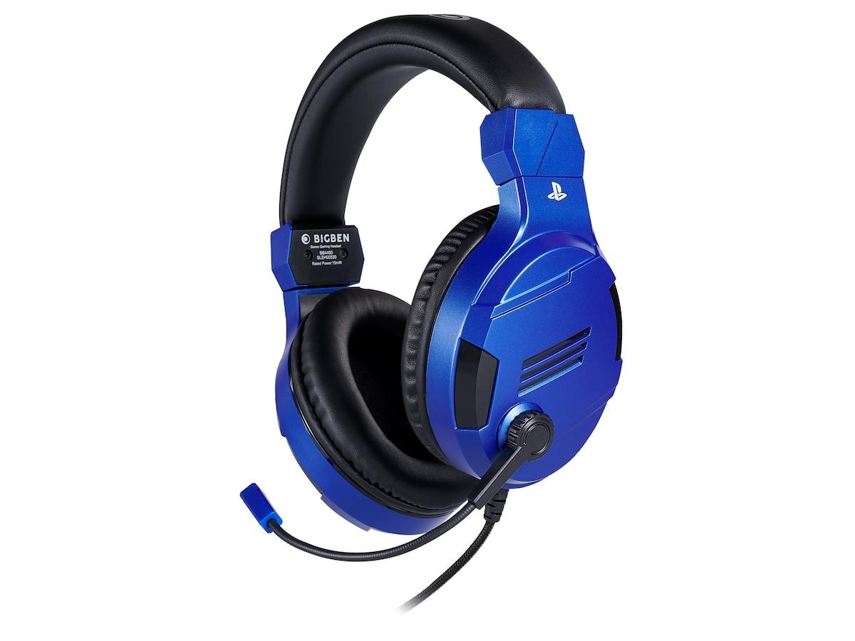 Billede af BigBen Interactive PS4 Gaming Headset V3 - Blue - Headset - Sony