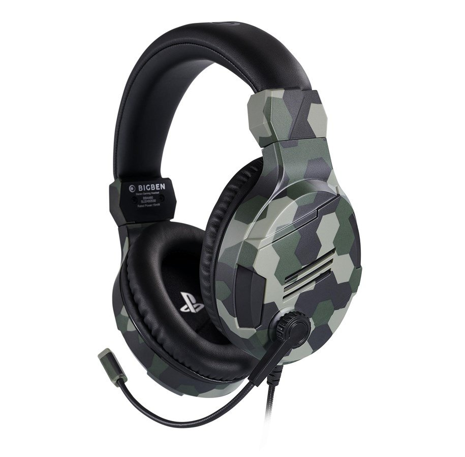 Billede af BigBen Interactive PS4 Gaming Headset V3 - Green - Headset - Sony