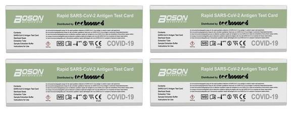 Boson - 4 x Rapid SARS-CoV-2 Antigen Test Card
