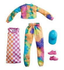 Barbie - Fashion 2-Pakke - Sæt med Tie-Dye Joggers & Sweatshirt (GRC84)