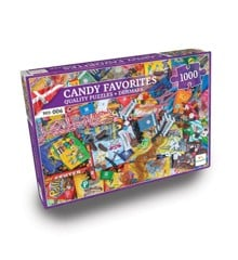 Nordic Quality Puzzles - DA:006 - Candy Favorites (1000 Pieces) (LPFI7623)