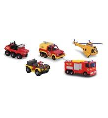 Fireman Sam - 5-pack, freewheel, die-cast vehicle