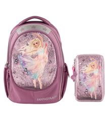 Top Model - Fantasy Model - School Backpack + Triple Pencil Case - Ballet