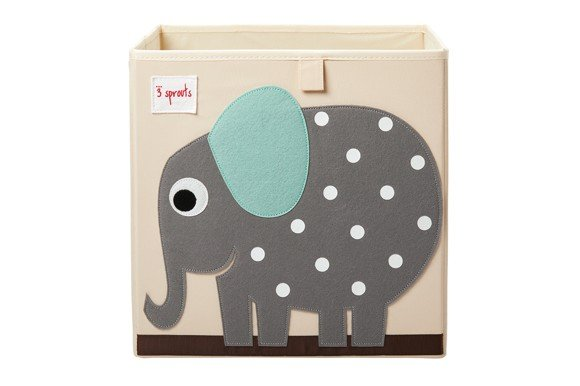 3 Sprouts - Storage Box - Gray Elephant