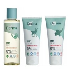 Derma - Eco Baby Oile 150 ml + Creme 100 ml + Salve 100 ml