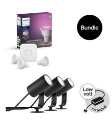 Philips Hue - GU10 Starterkit & Lilly outdoor spot Starter kit - Bundle