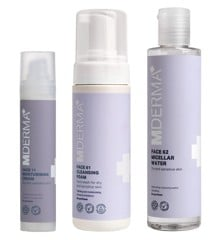 MDerma - FACE11 Moisturising Cream 50 ml + FACE61 Cleansing Foam 150 ml + FACE62 Micellar Water 200 ml