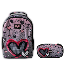 KAOS - Backpack 2-in-1 (36L) + Pencil Case - Sweethearts