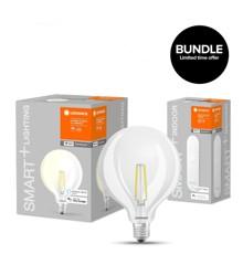 LEDVANCE - SMART+ Globe Clear Filament E27 WiFi + Wifi Remote - Bundle