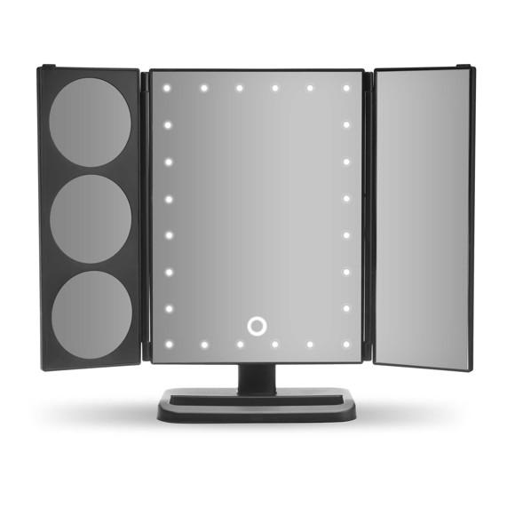 Gillian Jones - Hollywood Panel Mirror w. LED Light & Touch Function - Black