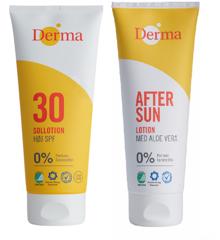 Derma - Sun Lotion SPF 30 200 ml+ After Sun Lotion 200 ml