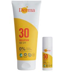 Derma - Sun Lotion SPF 30 200 ml + Sun Stick SPF 50 15 g