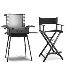 Gillian Jones - MAP Makeup Trolley w. Mirror and LED + MAP Professionnel Makeup Chair