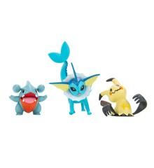 Pokemon - Battle Figure Set 3-Pack - Gible, Mimikyu #2, Vaporeon (PKW0173)