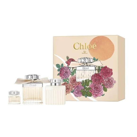 Chloé - Signature EDP 75 ml + EDP 5 ml + Body Lotion 100 ml - Giftset