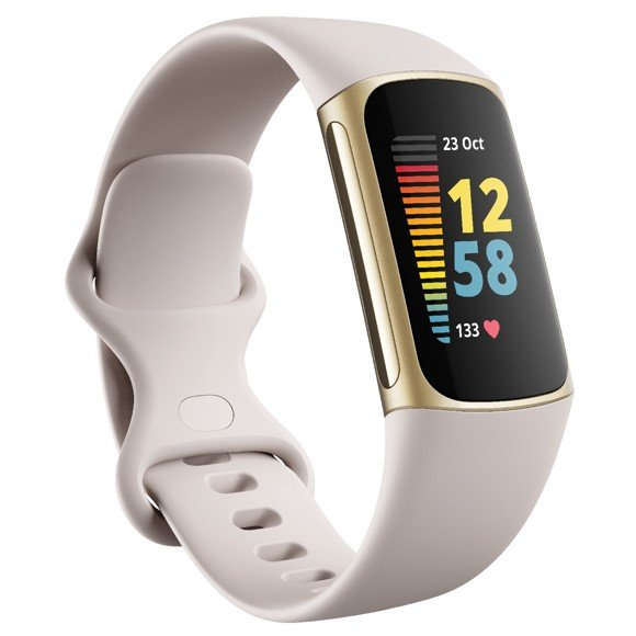 Fitbit - Charge 5 Smartwatch - Lunar White