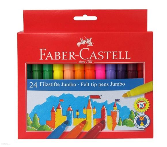 Faber-Castell - Felt tip pen Jumbo, cardboard wallet of 24 (554324)