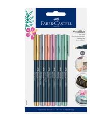 Faber-Castell - Metallics Marker,  6 pc (160706)