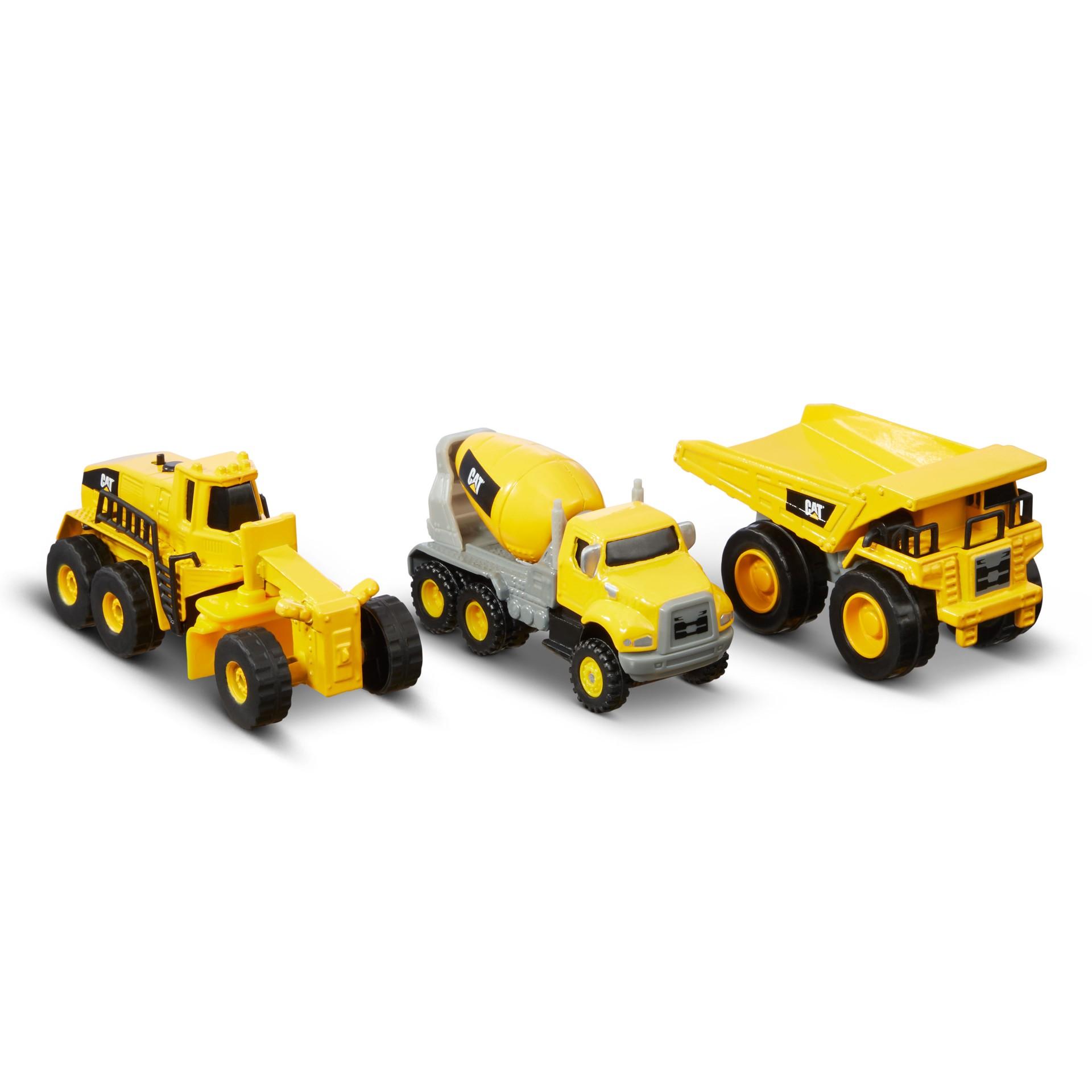 Cat - Metal 3-Pack Concrete Mixer, Dump Truck, Grader (82273)