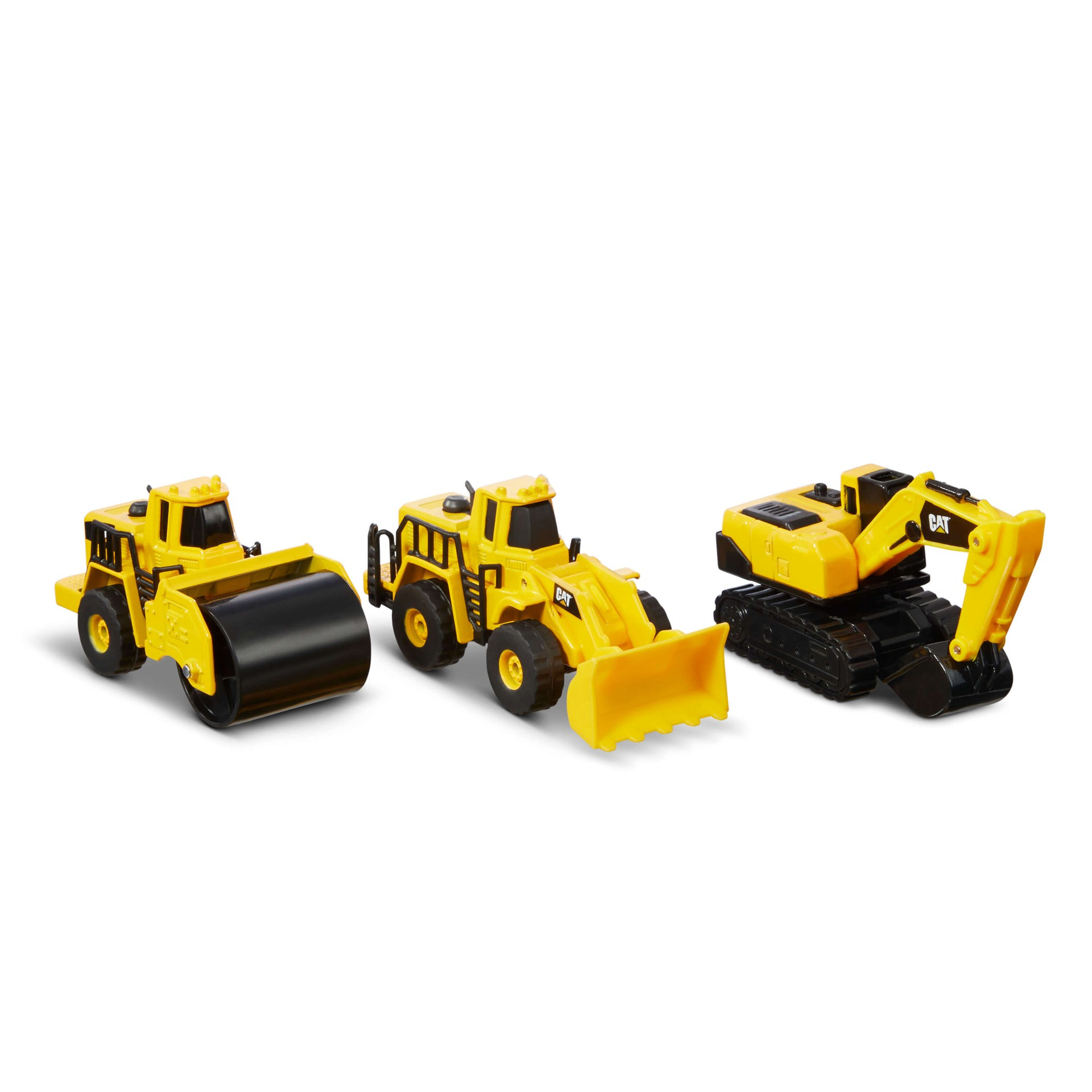 Cat - Metal 3-Pack Wheel Loader, Excavator, Steam Roller (82274)