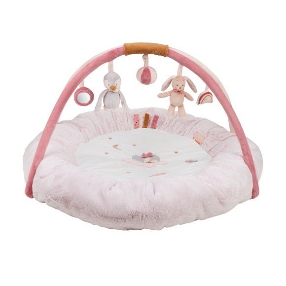 Nattou - Round Baby Activity Play Mat - Pauline & Sasha