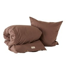 OYOY Living - Nuku Organic Bedding - 140 x 220 - Choko