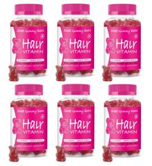 Sweet Gummy Bears - 6 x Hair Vitaminer 60 Pcs