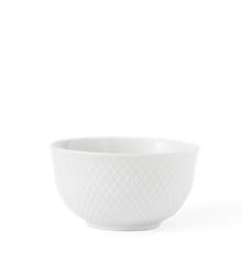 Lyngby Porcelæn - Rhombe Skål 13 cm - Hvit