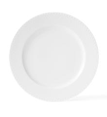 Lyngby Porcelæn - Rhombe Middagstallerken 27 cm - Hvit