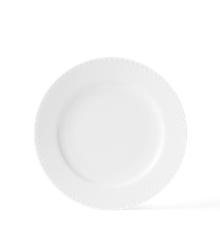 Lyngby Porcelæn - Rhombe Tallerken 21 cm - Hvit