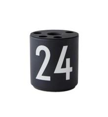 Design Letters - Kerst Kandelaar 24 - Zwart