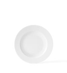 Lyngby Porcelæn - Rhombe Dyp Tallerken 23 cm - hvit