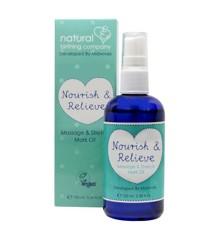 Natural Birthing Company - Nourish & Relieve Massage & Strækmærkeolie 100 ml