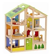Hape - Dukkehus med møbler