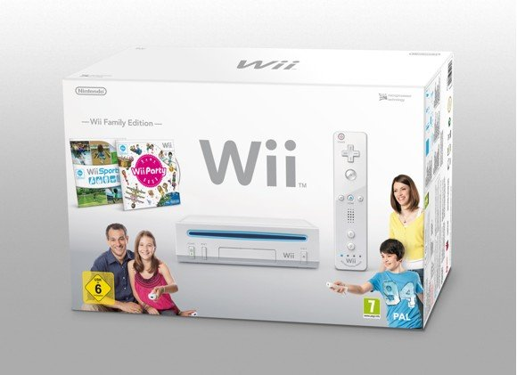 Nintendo Wii Console + Wii Party + Wii Sports (WHITE)
