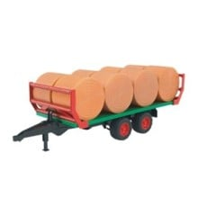 Bruder - Bale Transport Trailer with 8 round bales (2220)