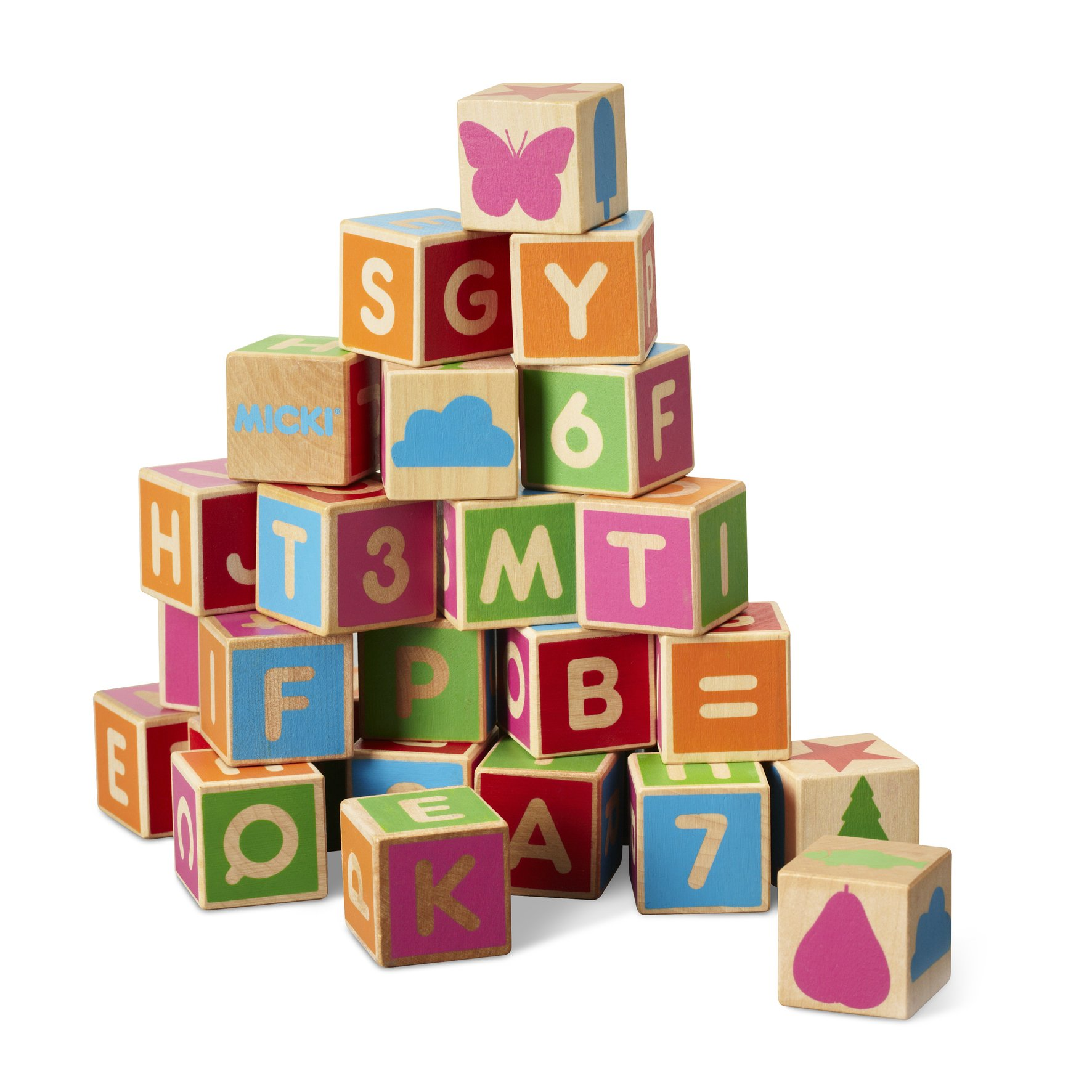 Micki - Wooden Alphabet Blocks (10213500)