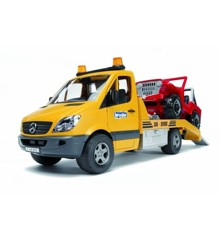 Bruder - Mercedes Benz biltransport m. Jeep (2535)