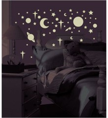 Roommates - Glow in the Dark Stars & Planets  - Wallstickers (RMK1141SCS)