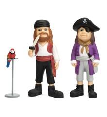 Pippi Figurer - 2 sørøvere og papegøjen Rosalinda (44371100)
