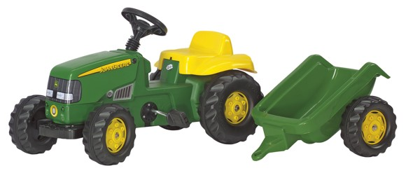 Rolly Toys - John Deere Tractor and trailer - Pedal ride-on (012190)