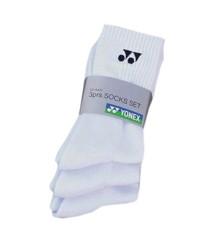 Yonex - Socks 3-pairs - White Small