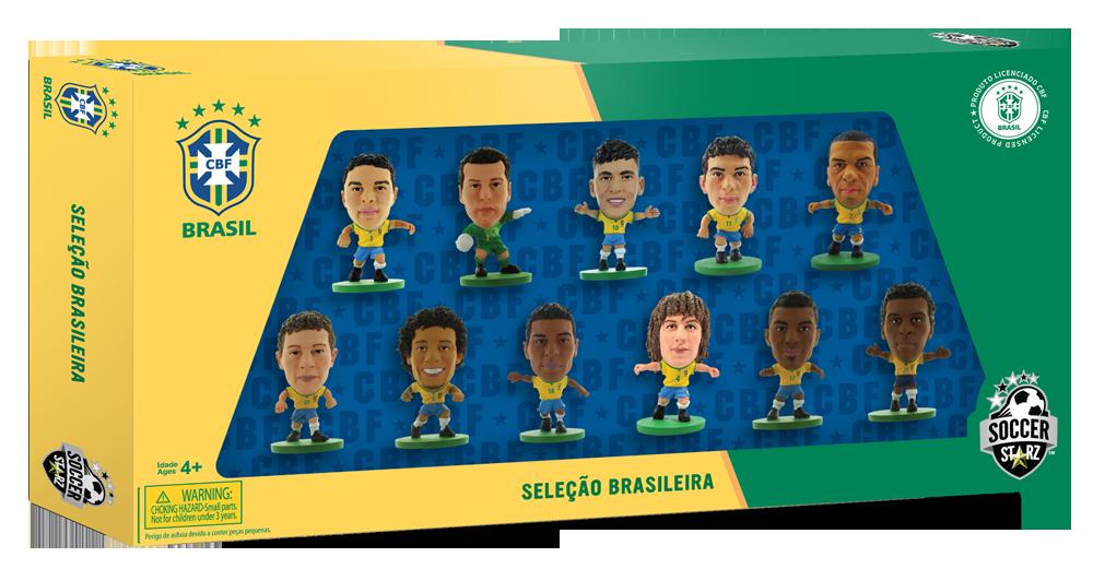 Soccerstarz Brazil National Team Football Stars Neymar Paulinho Figurine New